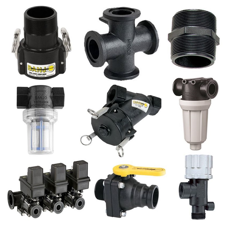 Fittings, Line Strainers & Valves