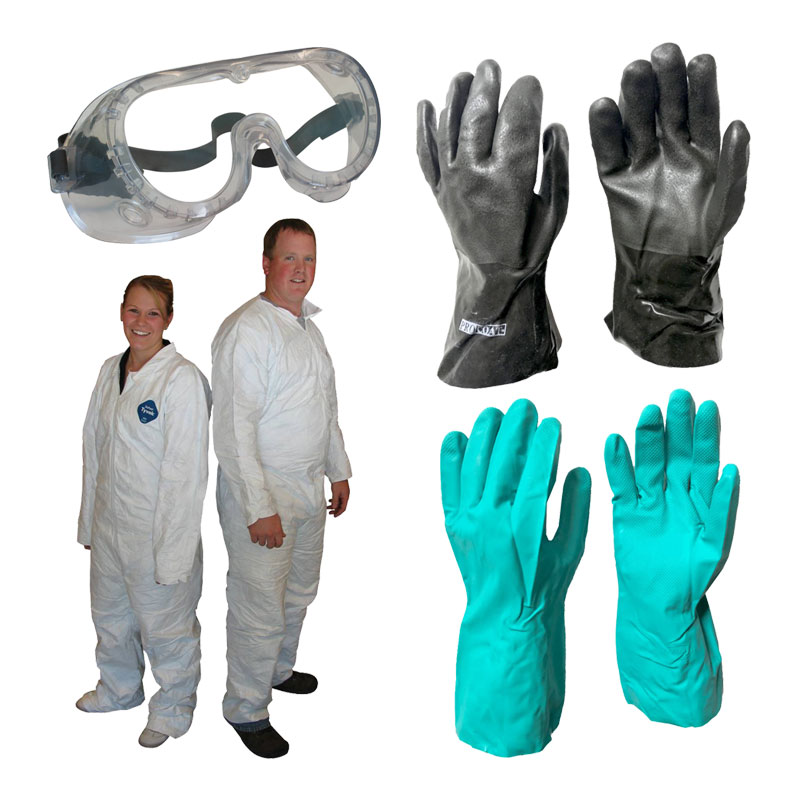 Safety Gloves & Goggles