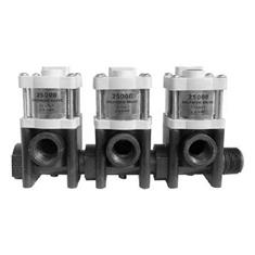 2500B SOLENOID SHUTOFF VALVE - BANK OF 3