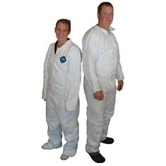 TYVEK WHITE COVERALLS - LARGE