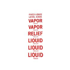 "NH3 SAFETY DECAL -""LIQUID , VAPOR, RELIEF""RED/WHITE"