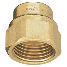 "TEEJET 4676 3/8""FPT BRASS X11/16"" NZZL THREAD ADPTR"