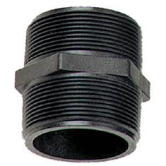 "BANJO 1/2"" MPT X 1/2"" MPT SHORT POLY PIPE NIPPLE"