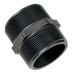 "BANJO 1"" MPT X 1"" MPT - SHORT POLY PIPE NIPPLE"