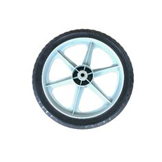 "14"" x 1.75"" PLASTIC GAUGE WHEEL-GRAY W/RUBBER TREAD"