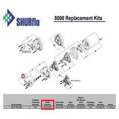 SHURFLO 8020 PRESSURE SWITCH ASSEMBLY