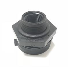 "3/4"" HEAVY DUTY DOUBLE THREADED POLY TANKFITTING"