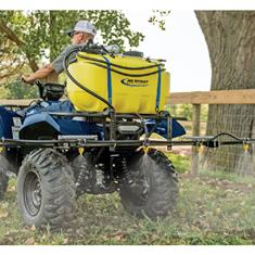 ATV SPRAYER 25 GALLON, HGUN, BOOM BRKT, LESS BOOM