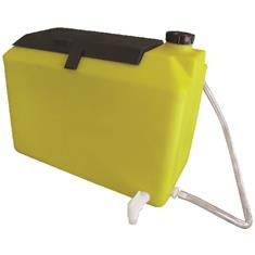 9 GALLON FRESH WATER TANK W/ STORAGE - YELLOW
