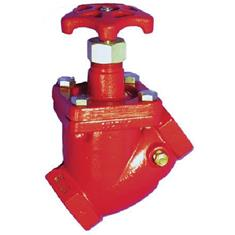 "NH3 GLOBE VALVE 2"" FPT 45DEGREE HAND WHEEL"