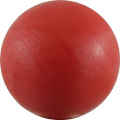 WILGER SPRAY MONITOR BALL, RED PLASTIC