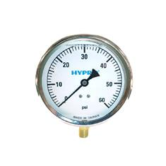 "PRESSURE GAUGE 0-60PSI 4"", LIQUID FILLED"
