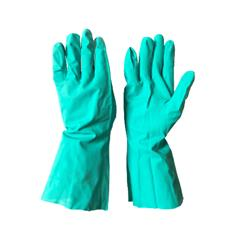 "GREEN CHEMICAL GLOVE-13"" LONG 11 MILS SIZE 9"