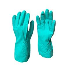 "GREEN CHEMICAL GLOVE-13"", 15 MILS FLOCKED SIZE 11"