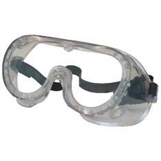 SAFETY VENTLESS GOGGLE, CLEAR LENSE