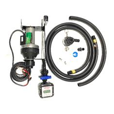 FLOWSERVE CT6 IBC CAGE SYSTEM 12V HIGH FLOW PUMP WITH METER, HOSE ASSEMBLY AND DIP TUBE
